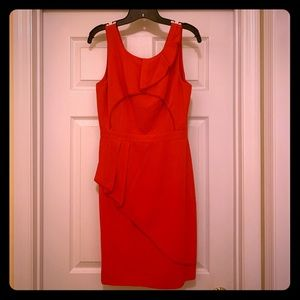 Size 6 red BCBG fitted cocktail dress